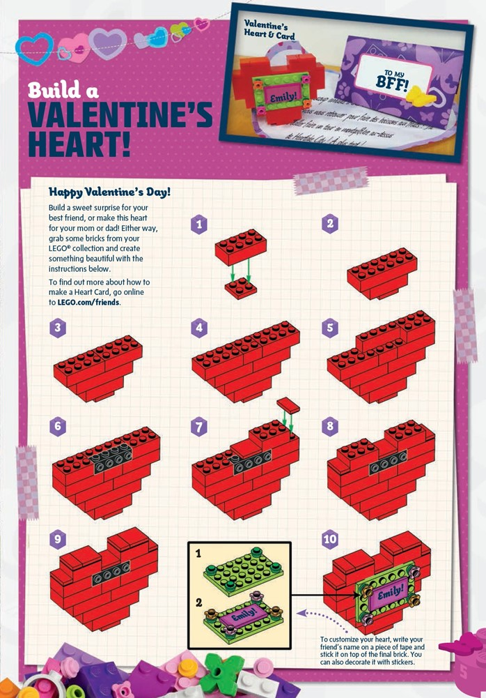 LEGO Friends Build a Valentine's Heart