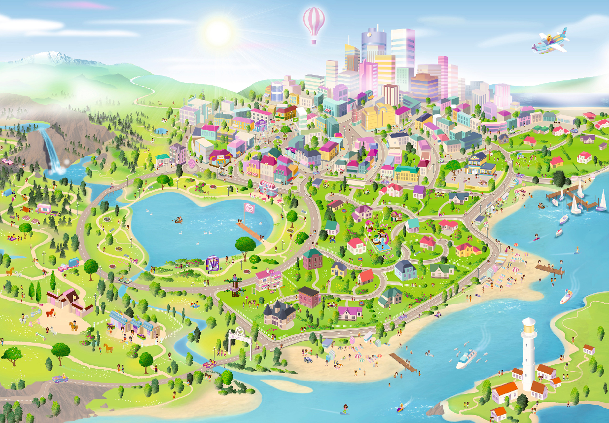 Lego Friends Map Of Heartlake City  thegogreenblog