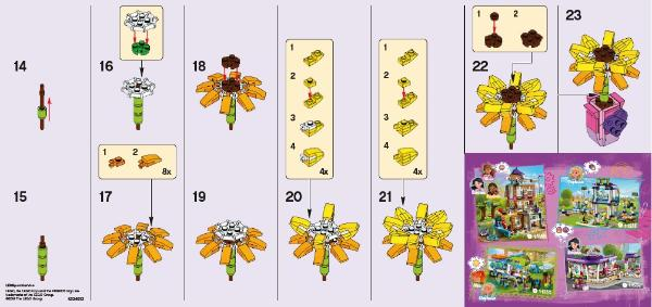 Friendship Flower building instructions