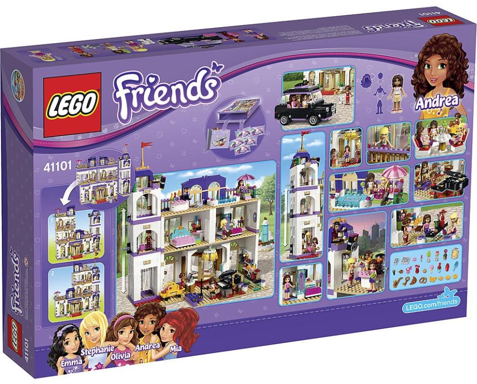 LEGO Friends heartlake Grand Hotel - 41101 - box back