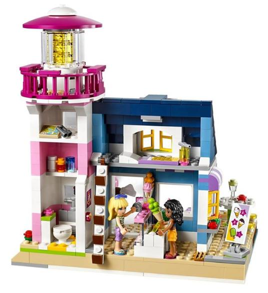 LEGO Friends Heartlake Lighthouse - inside Ice Cream Shop