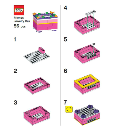 LEGO Friends Jewelry Box in-store build 2013