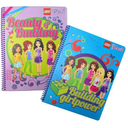 LEGO Friends Spiral Lined-paper Notebook