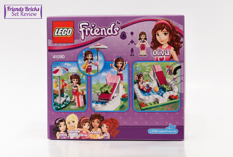 Friends bricks olivia 39 s garden pool review for Lego friends olivia s garden pool 41090